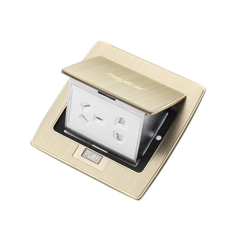 弹起式五孔地插usb工程定制隐藏地板插 家用全铜电话地面插座批发