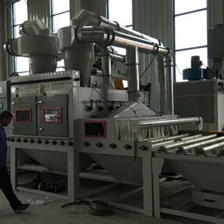 山东百超门窗铝型材自动喷砂机,河北北京门窗铝型材自动喷砂机