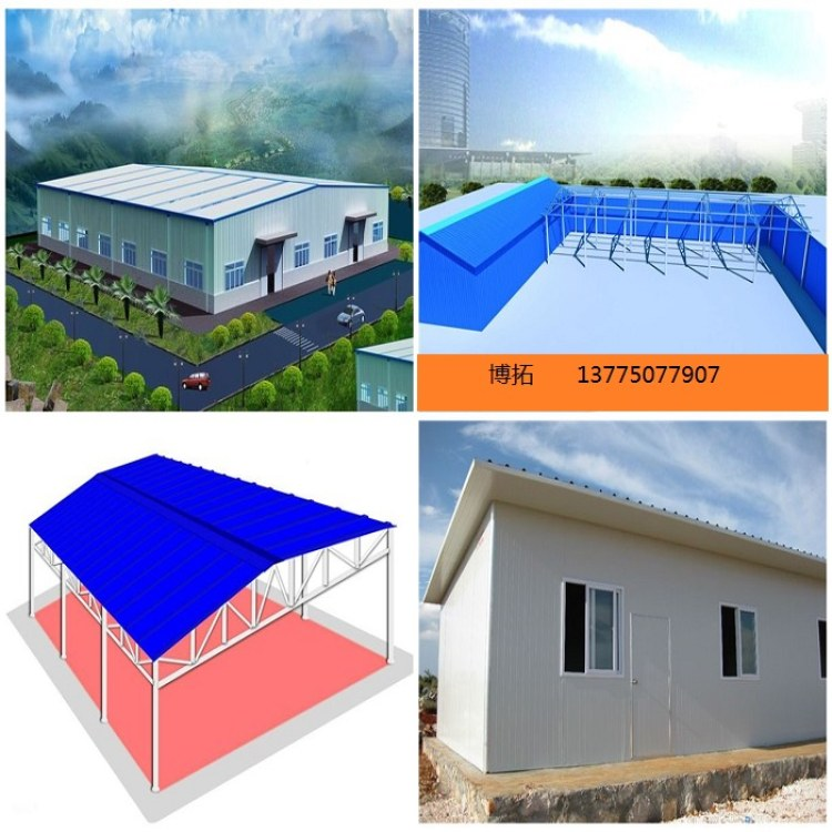 岩棉夹芯板棚 岩棉活动板房 防火岩棉活动板房  性价比高