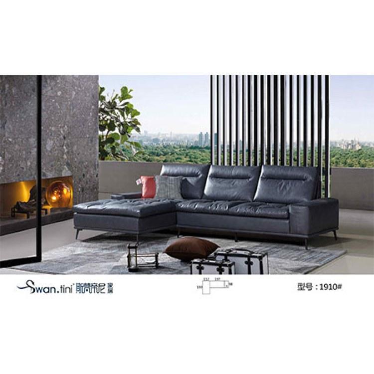 四川简约时尚沙发组合厂家推荐 斯梵帝尼 商务沙发款式-