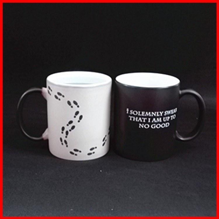 陶瓷变色杯 创意陶瓷马克杯 供应加印logo陶瓷变色杯 定制批发