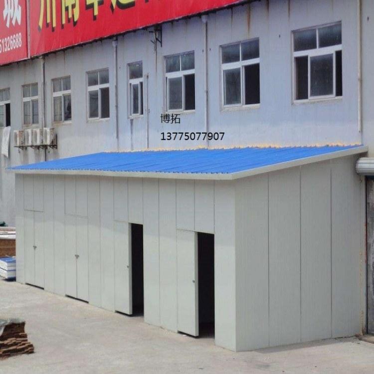 泡沫岩棉活动板房搭建  简易彩钢棚 车间彩钢瓦、夹芯板隔断  室内夹芯板办公室
