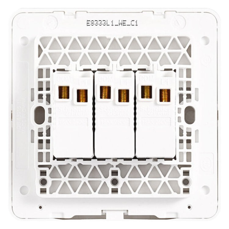 施耐德电气   面板开关  家用开关插座面板 三开单控 绎尚系列镜白瓷 施耐德电气批发零售