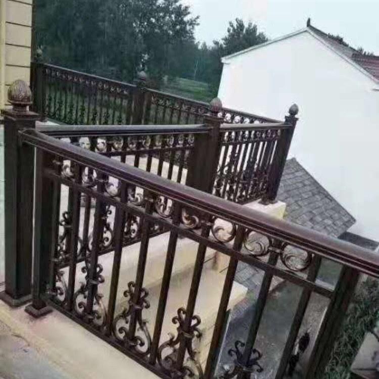 直销豪华阳台铝艺护栏自建房院子围栏简约铝艺楼梯扶手