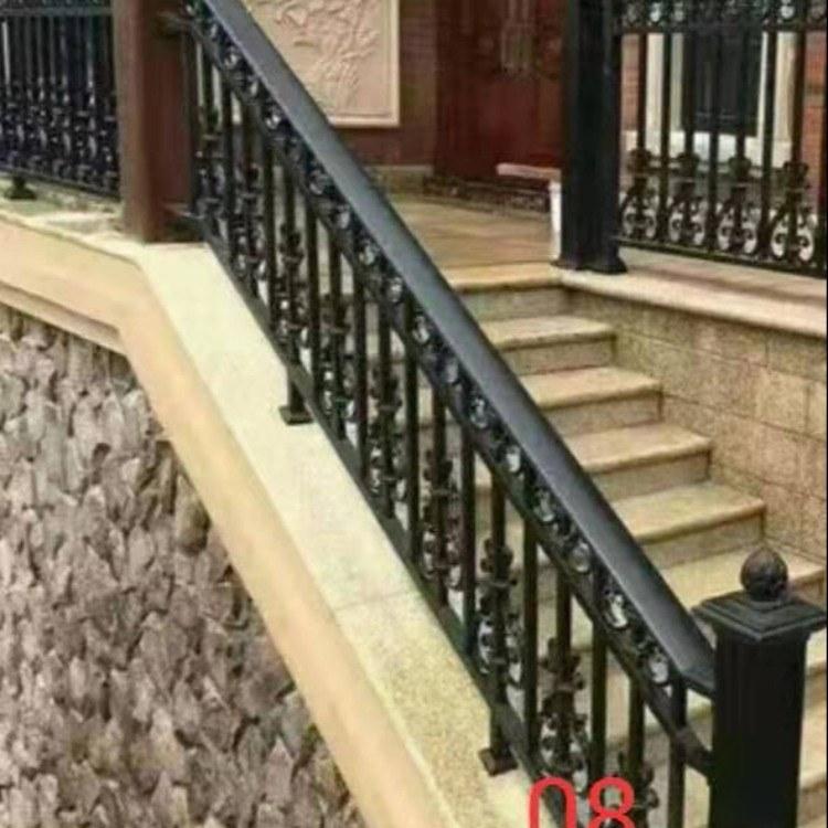潍坊厂家直销 铝合金阳台护栏 高档别墅定制铝艺阳台护栏楼梯扶手防护栏院子围栏等