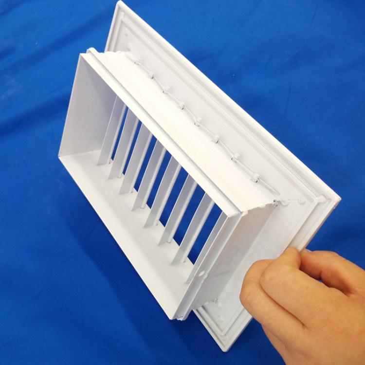 出风口百叶方形铝合金风口方形散流器山东同创定制自锤式防雨百叶
