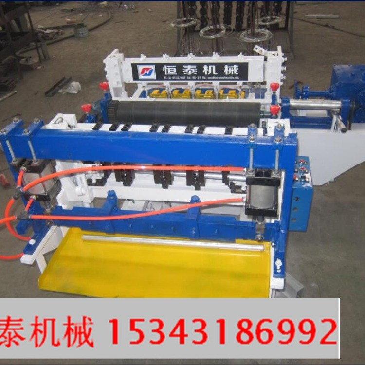 恒泰自动荷兰网机浸塑设备 电焊网巻机器浸塑炉 绿色涂层设备