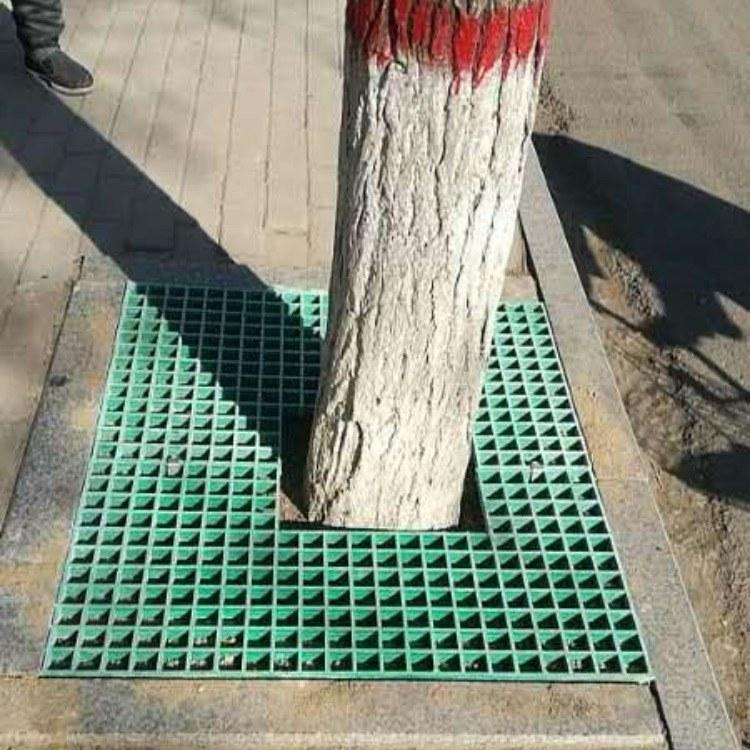 树坑格栅 玻璃钢材质 耐腐蚀 抗老化 绿色 灰色 黑色 河北实体厂家直供