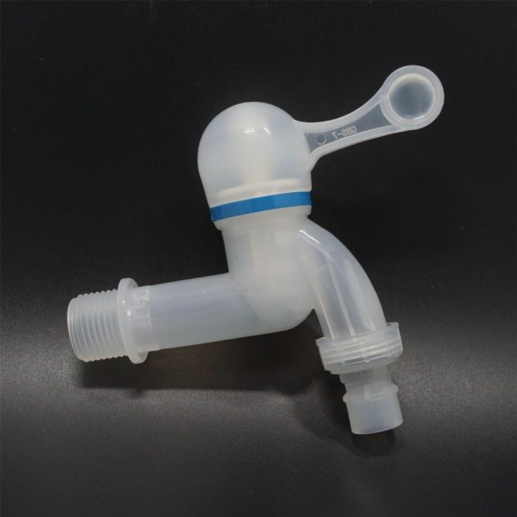 塑料冷水自来水龙头 水槽陶瓷阀门4分水龙头 洗衣机尖嘴塑料水嘴