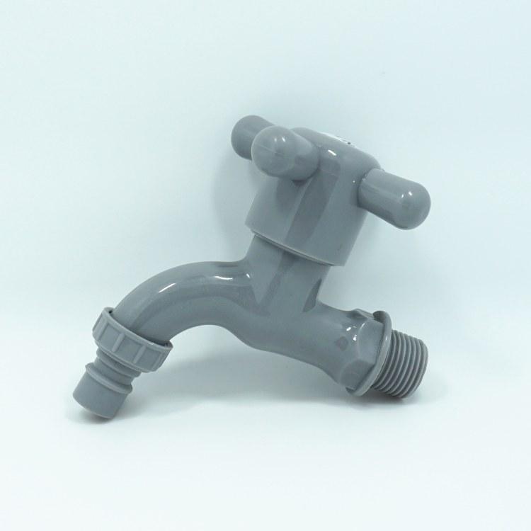 塑料自来水龙头 十字尖嘴水龙头 PP快开水嘴  4分家用工程龙头水阀