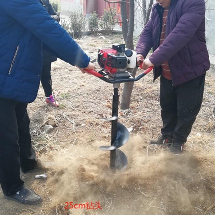 富强 断根挖树机 汽油手提式挖树机 低油耗挖坑机