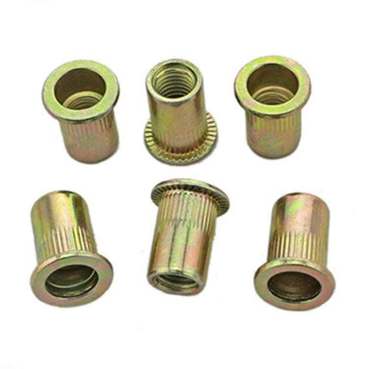源头紧固件厂家直销拉铆螺母 304不锈钢/镀锌拉铆螺母 彩色竖纹 可定制