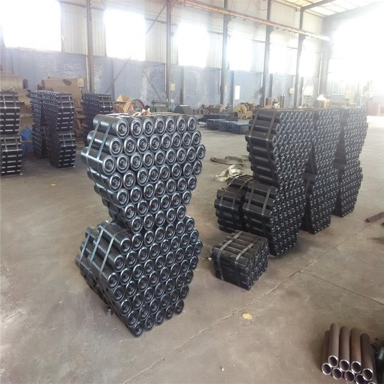 江苏徐州500*1400平行回程托辊组   加厚托辊支架组  输送机配件可在线咨询