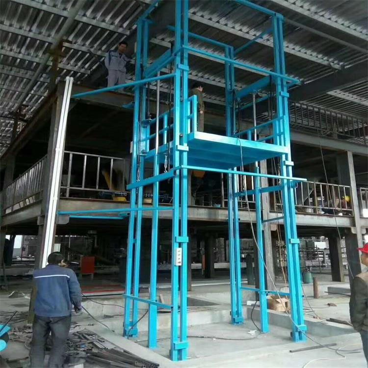 登高厂家 导轨式升降平台 电动液压升降货梯价格 厂房货梯定做仓库提升机1-30吨