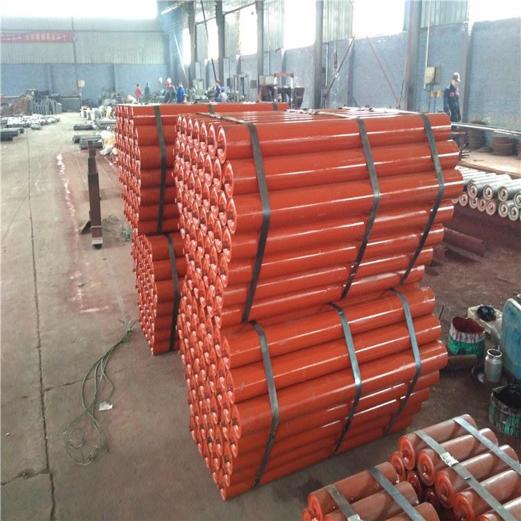 河北沧州煤矿输送用可变槽角过渡托辊  V型108*2000过渡托辊  就选鸿鹏