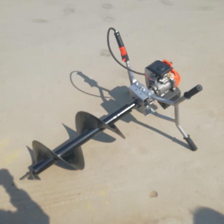 手推汽油电线杆挖坑机 水泥杆挖坑机  便携式打孔机