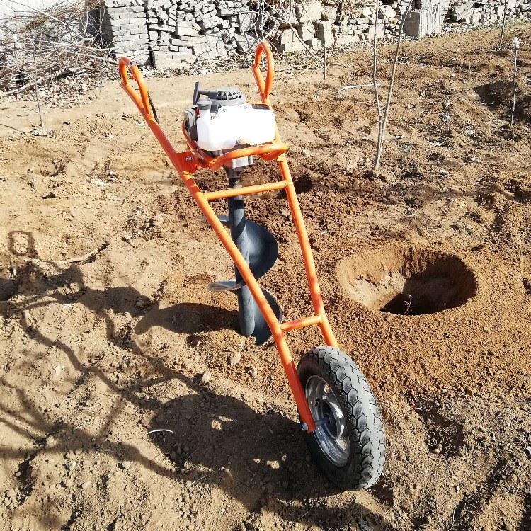 富强 小型地钻钻挖坑机机 种树植树专用挖坑机
