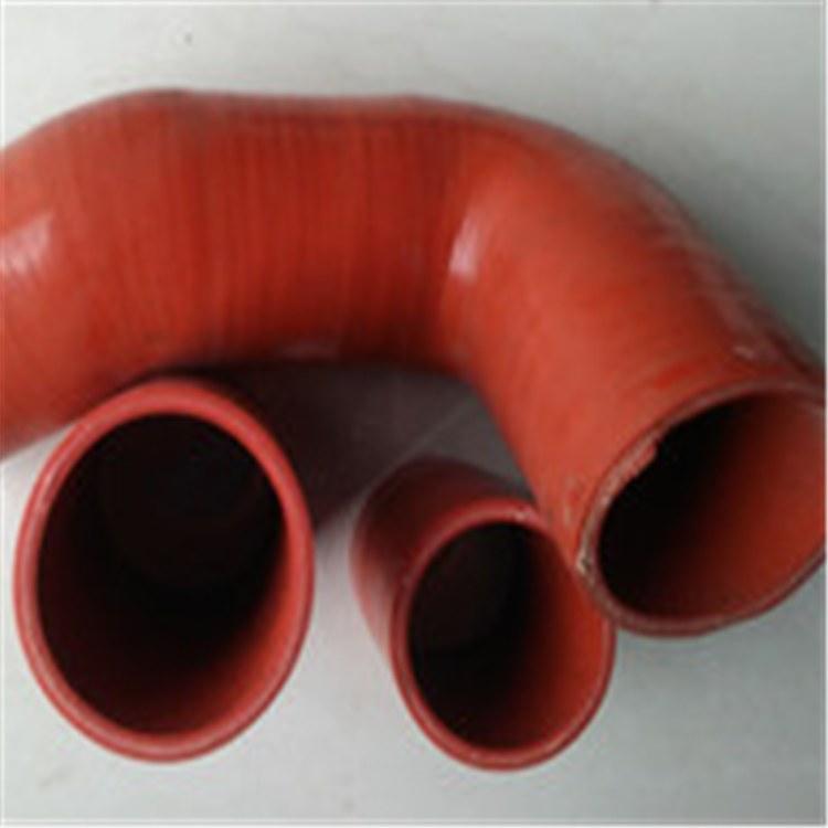 弘创加工定做汽车专用夹布耐油硅胶管 红色硅胶钢丝管 伸缩软管厂家直销