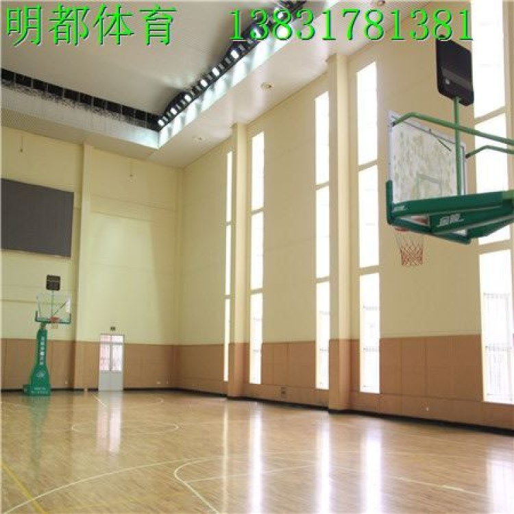 运动实木地板 篮球木地板  明都体育