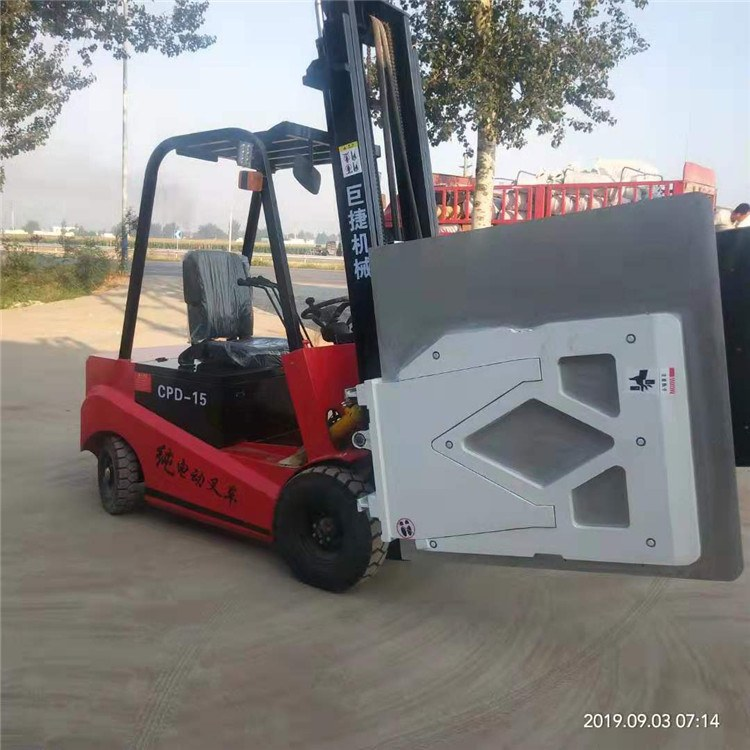 巨捷半电动堆高车座驾式电动叉车堆垛车1.5吨3米厂家直销