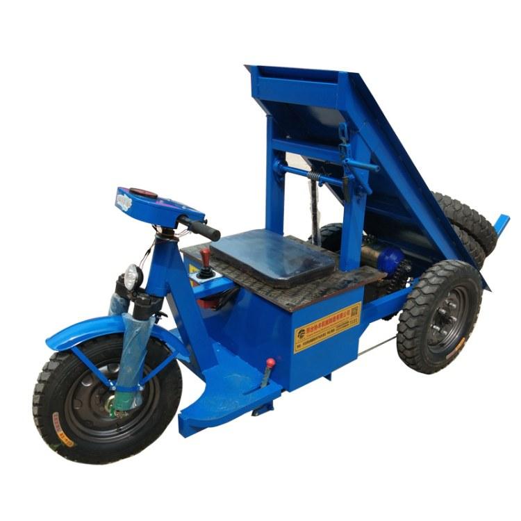 协丰机械 工程电动骑行拉砖车 工地手推电动平板拉砖车价格 工程电动拉砖车厂家