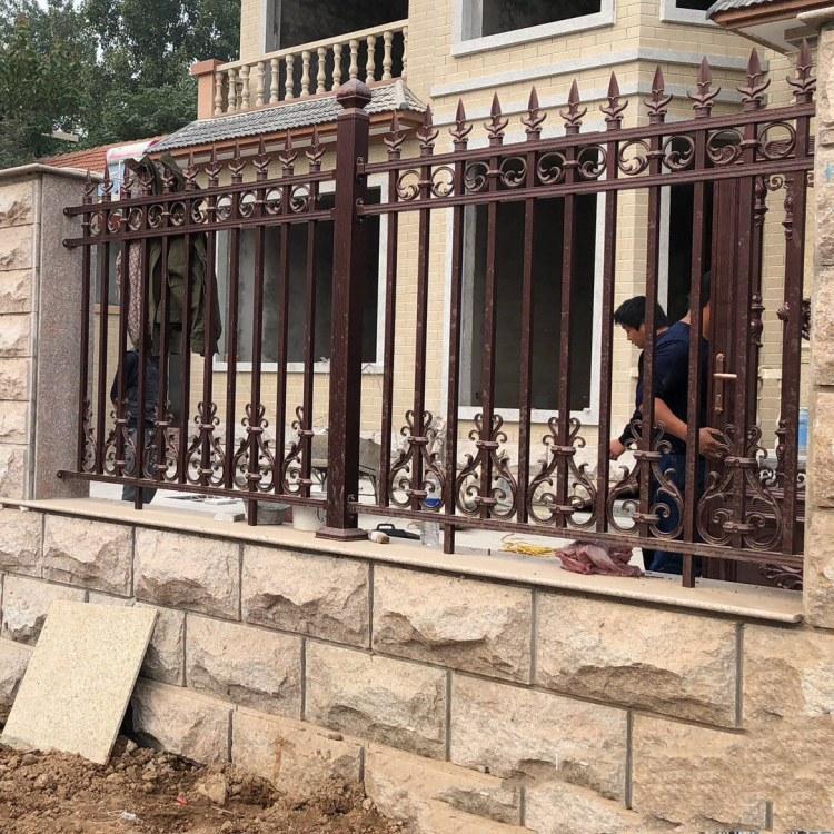 铝合金护栏 铝艺栏杆 别墅园林防护栏 庭院围栏 不生锈围栏定制 纵海