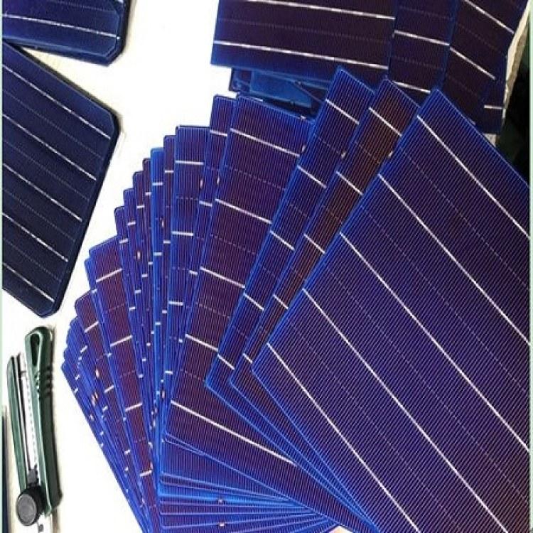 厂家大量回收太阳能多晶电池片缺角片碎电池片 采购蓝膜片 价高同行