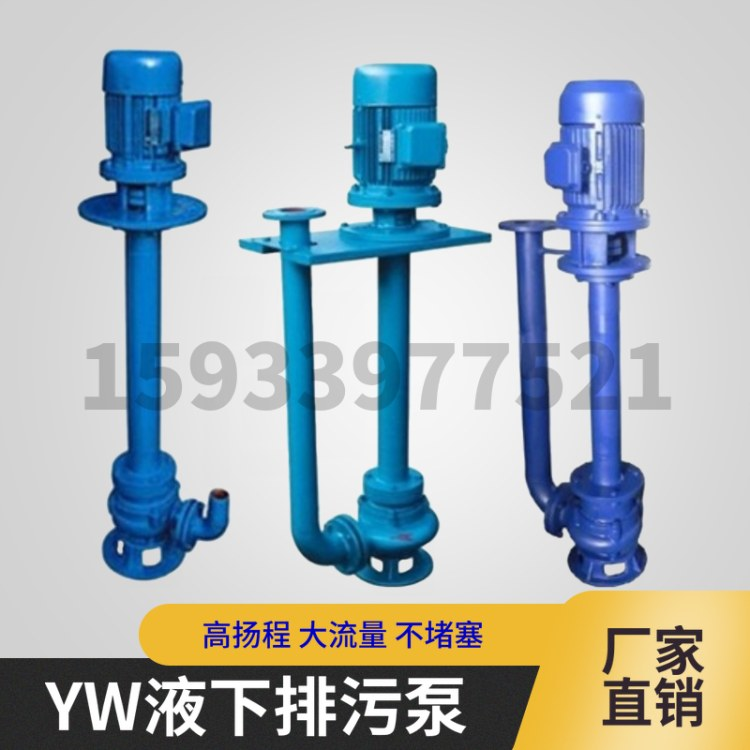 润豪泵业YW液下排污泵双管高扬程污水提升泵立式污水泵厂家