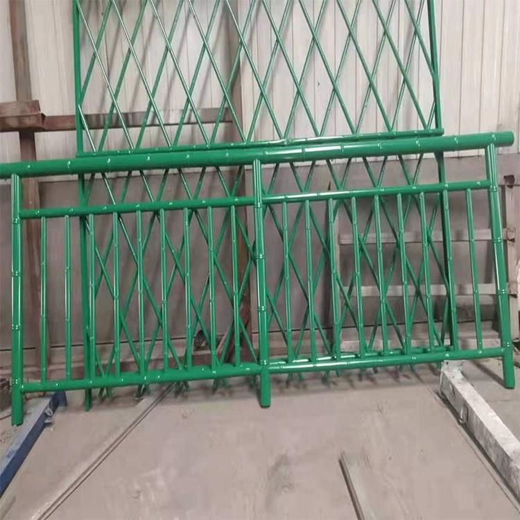 201不锈钢市政园林花园仿竹护栏 金属竹篱笆生态竹子护栏