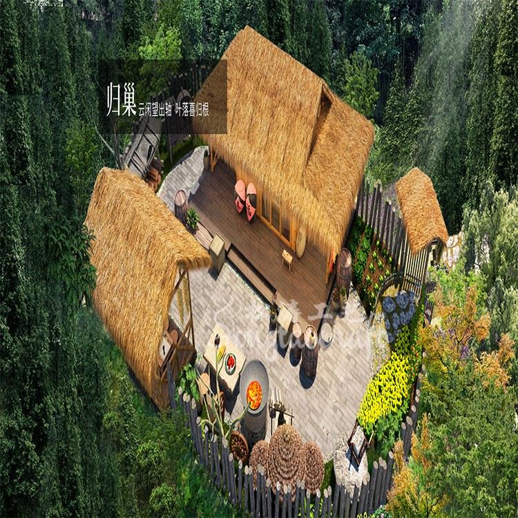 浙江自然生态景区特色民宿树屋酒店设计森林里的小树屋山间小木屋定制