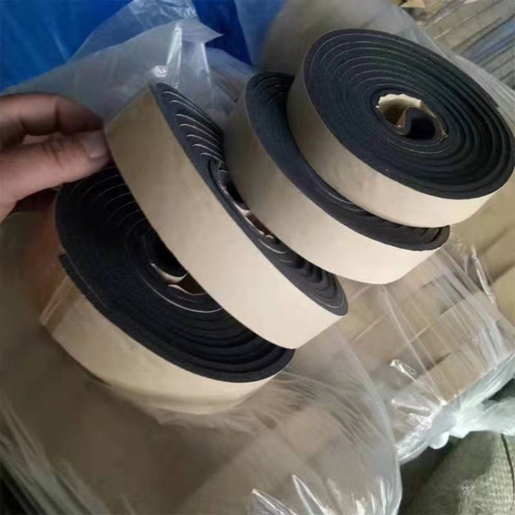 现货海绵胶条密封胶条 阻燃橡塑胶条   中央空调风管保温自粘密封胶条