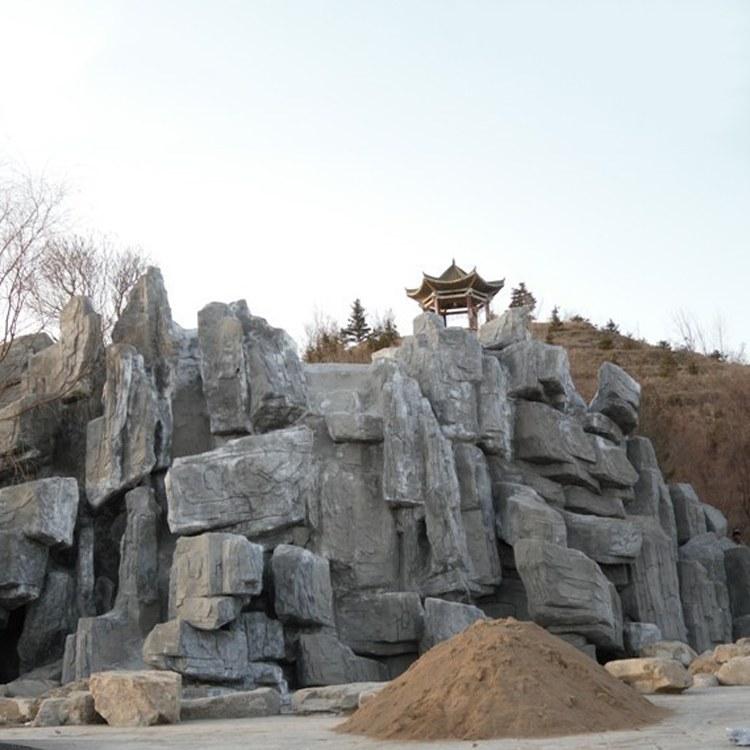 丰景 大型园林假山塑石 仿真自然景观桐庐假山石 千层石吸水石塑石