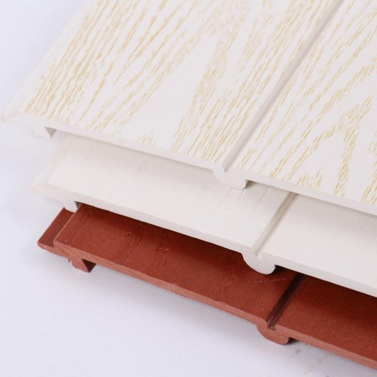 亿家绿晨现货供应 生态木双75平面板 装饰材料室内墙裙 生态木吊顶