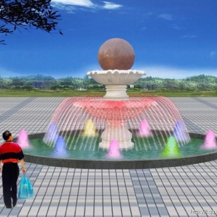 丰景园林 专业喷泉设计施工厂家 大型石雕花岗岩欧式喷泉风水球