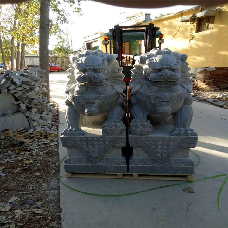 制作各种青石花岗岩石雕狮子 石狮子