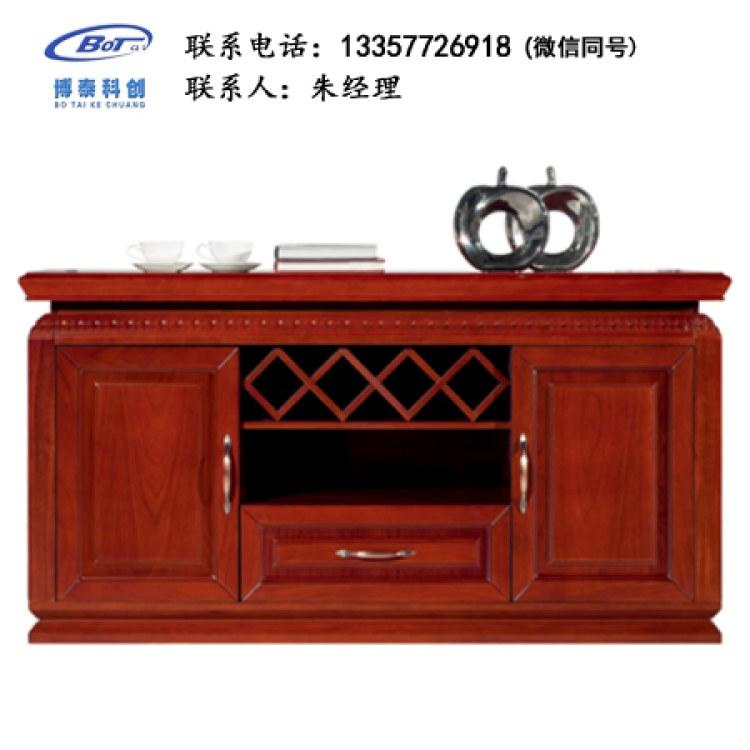 办公休息室茶水柜实木备餐茶水柜饭店餐厅储物南京卓文办公家具KJ-03
