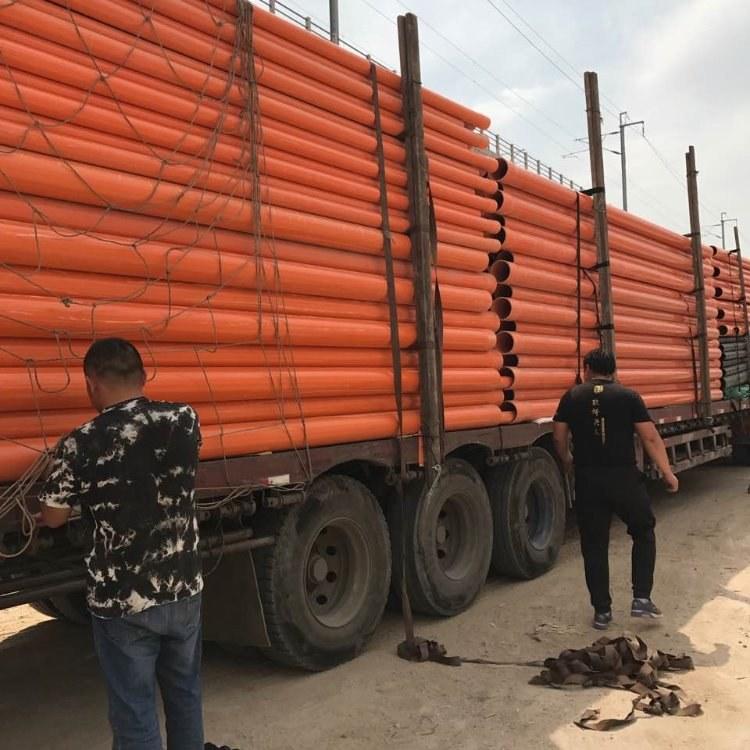 cpvc地埋穿线管 cpvc电力管 橘红色PVC电缆保护管 110 160 200 现货供应