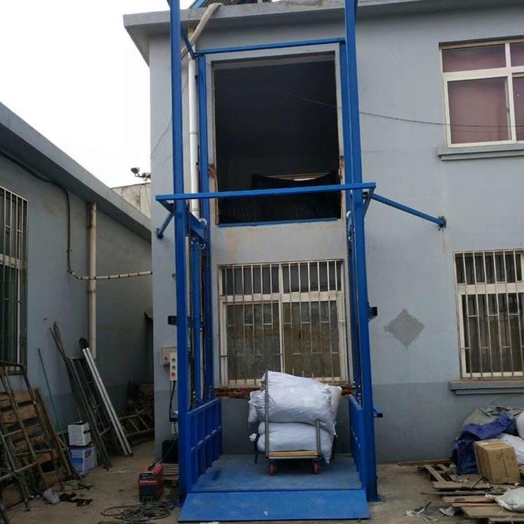 厂家定做电动链条式升降平台 厂房液压升降货梯 导轨式防坠货梯仓库提升机1/3/6/30吨
