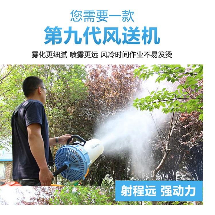 喷雾机农用果树打药泵 手提式风送喷雾机 高压双泵