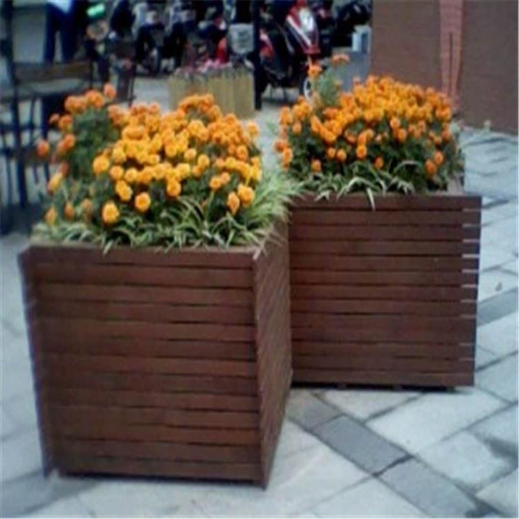 温州防腐木花箱_室外花箱花盆_枫雪园林景观工程