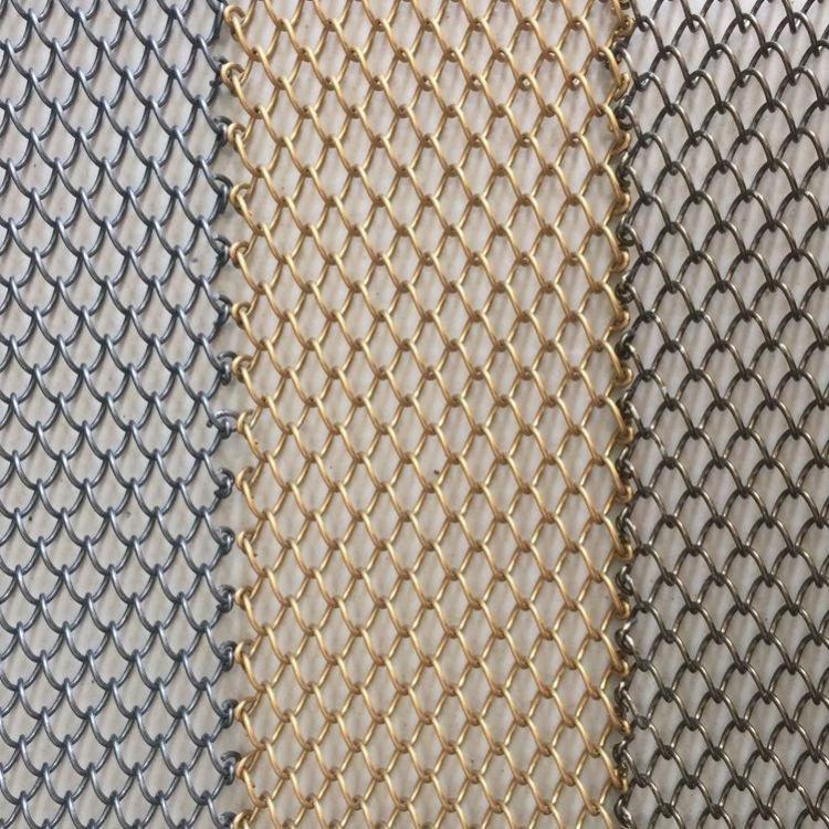 厂家热销金属装饰网 金属网帘 螺旋挂网幕墙网