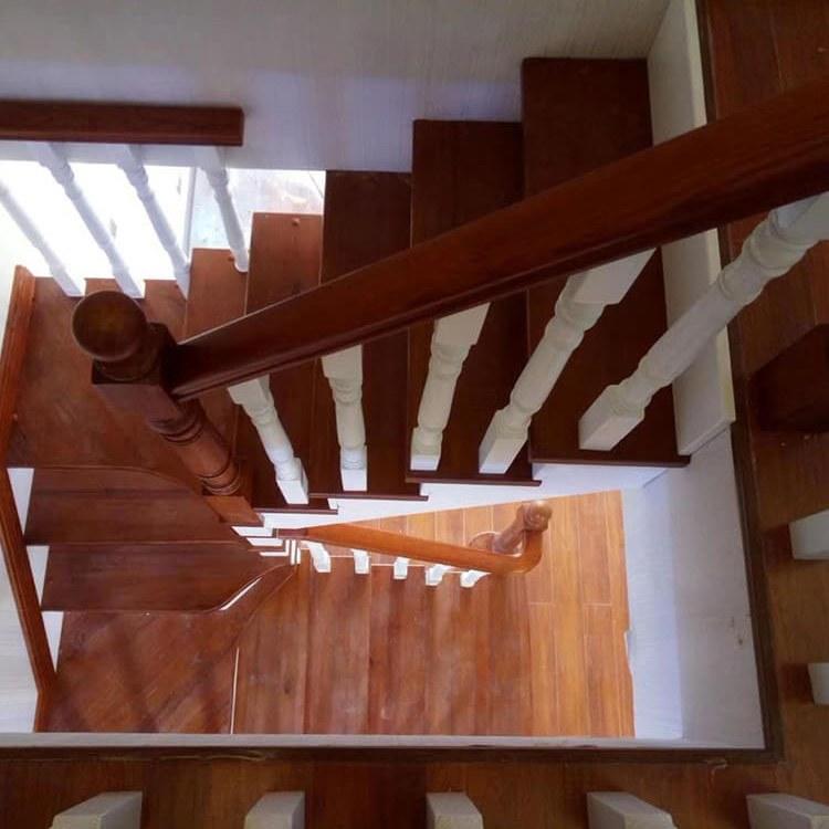 【颜氏木业】室内实木楼梯带扶手 家居别墅阁楼 旋转楼梯 厂家定制