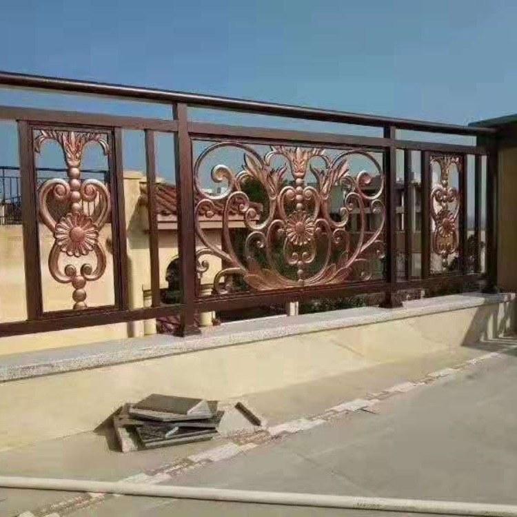 直销豪华铝艺阳台护栏自建房院子围栏简约铝艺护栏