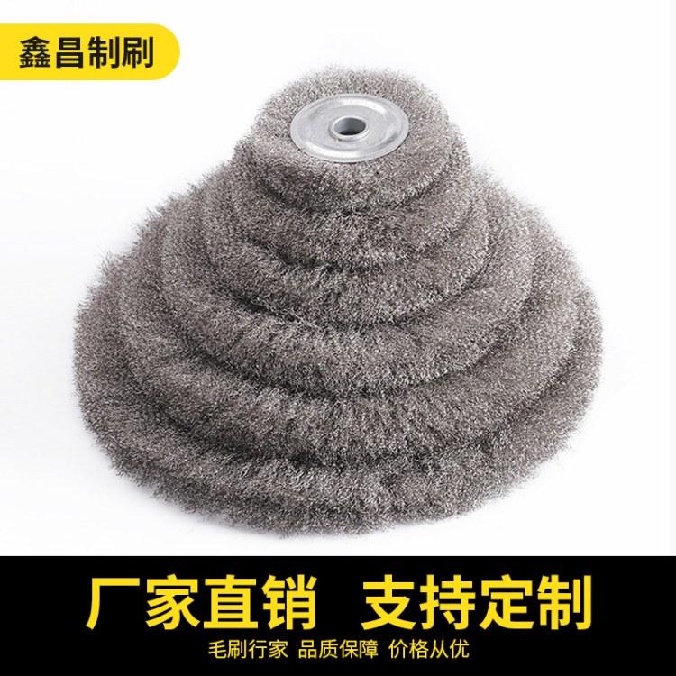 去毛刺磨料丝轮 打磨钢丝轮 磨料丝轮 去毛刺刀具 钝化打磨除锈 角膜机专用圆形钢丝轮 磨光机钢丝刷