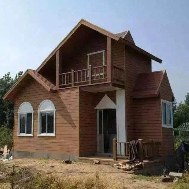 湖北木塑墙板 轻钢别墅外墙板 新型节能别墅外墙装饰面板  红树林木塑厂家