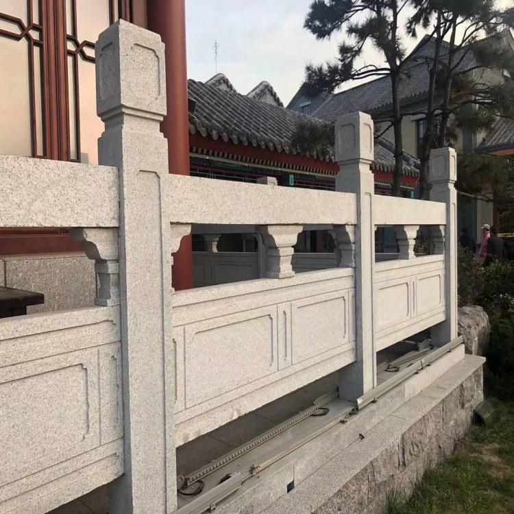 直销各种石雕护栏板 河道石栏杆 石雕护栏