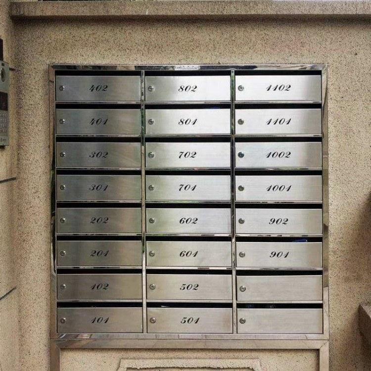 河南大象生产的住宅信报箱 不锈钢信报箱质量好价格低 欢迎选购