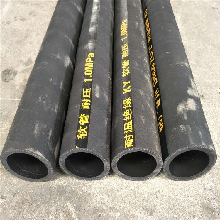 涤纶线编织蒸汽胶管浙江大口径输送蒸汽软管德利耐高压胶管厂家