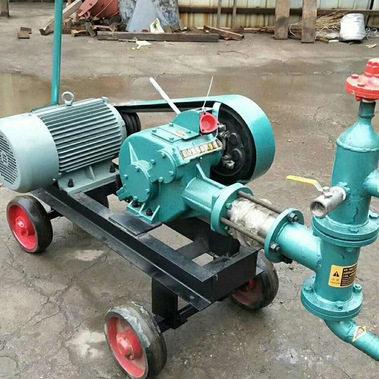 程煤注浆机 卧式双缸砂浆泵机 BW型注浆泵厂家直销