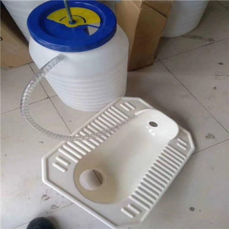 湖北 新农村无害化厕所改造专用脚踏式冲水桶 @农村改厕冲水桶¥35升水桶¥冲水桶的价格